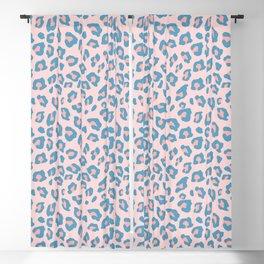 Leopard Print - Peachy Blue Blackout Curtain