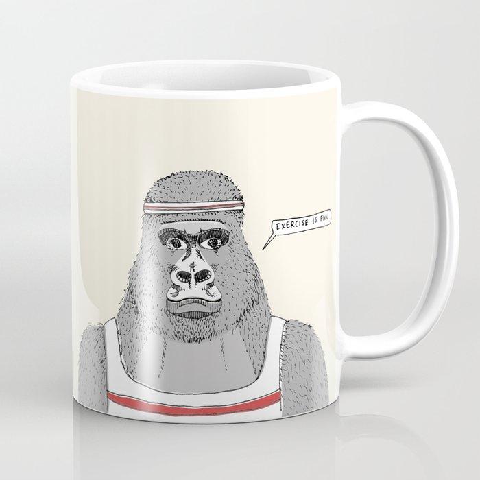 Gorillas love exercise Coffee Mug