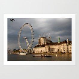 The London Eye On The South Bank Art Print