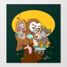 Tuff Owls Canvas Print