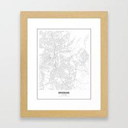 Brisbane, Australia Minimalist Map Framed Art Print