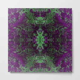 Colorful Abstract Decorative Boho Chic Style Mandala - Andung Metal Print