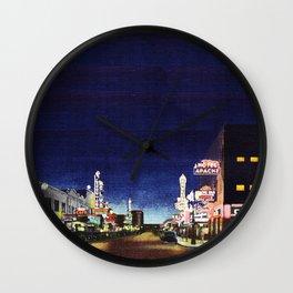 OLD VEGAS BY NIGHT Wall Clock
