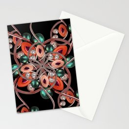 Luxury Collage Ornament New Noveau Artwork Stationery Cards