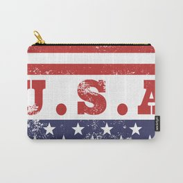 USA Patriotic Rubber Stamp Icon Carry-All Pouch