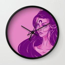 Pink Devil Wall Clock
