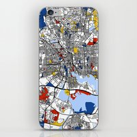 baltimore iPhone & iPod Skins featuring Baltimore Mondrian by Mondrian Maps