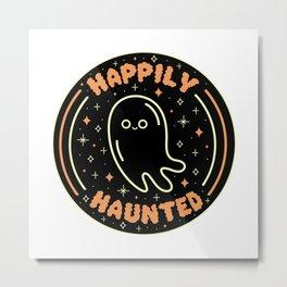 Happily Haunted Metal Print