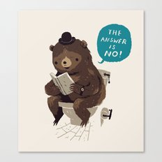 Does A Bear.. Canvas Print