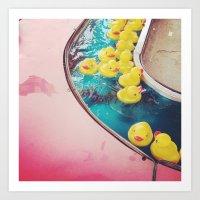 Duck Game at the Fair Art Print