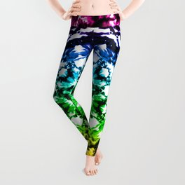 Rainbow Tie Dye Star Mandala Leggings