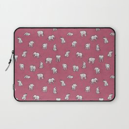Indian Baby Elephants in Pink Laptop Sleeve