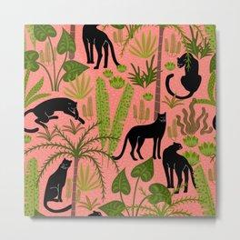 black panthers- pink Metal Print