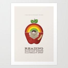 PSA Series: Reading Each Day Keeps Illiteracy Away Art Print