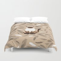 mew Duvet Covers featuring Siam cat by S.Y.Hong