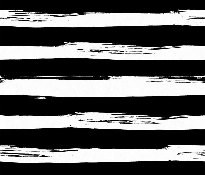 Paint Stripes Black and White Metal Travel Mug
