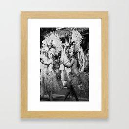 Hula Girls Framed Art Print