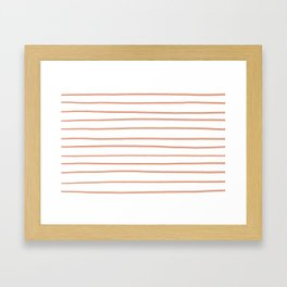 Pratt and Lambert Earthen Trail 4-26 Hand Drawn Horizontal Lines on Pure White Framed Art Print
