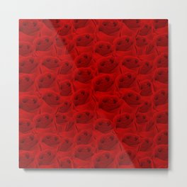 Rose Pattern Metal Print