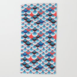 Beautiful abstract vector illustration with curls and waves Beach Towel