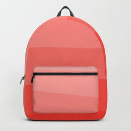 Diagonal Living Coral Gradient Backpack