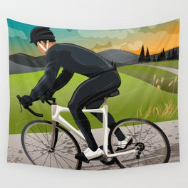 Road Cyclist Wall Tapestry