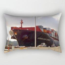 Cargo ship Rectangular Pillow