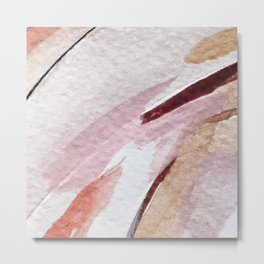 Away [2]: an abstract mixed media piece in pinks and reds Metal Print