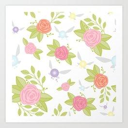 Garden of Fairies Pattern Art Print
