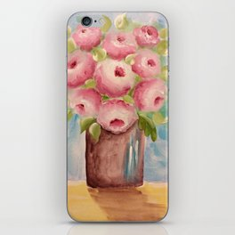 Vase of Pinks iPhone Skin