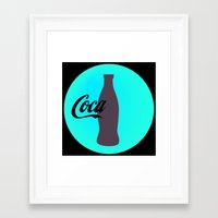 coca cola Framed Art Prints featuring Coca cola by Mary Stephenson