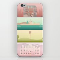 wes anderson iPhone & iPod Skins featuring A Wes Anderson Collection by George Townley