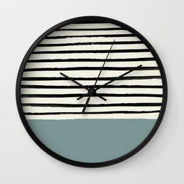 River Stone & Stripes Wall Clock