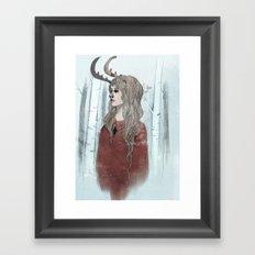 My Screams Won't Echo Framed Art Print