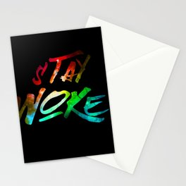 Stay Woke Stationery Cards