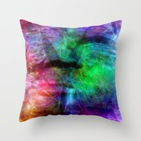 no face Throw Pillows featuring face by  Agostino Lo Coco