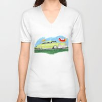 ford V-neck T-shirts featuring Custom Ford by JasonKoons