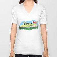 custom V-neck T-shirts featuring Custom Ford by JasonKoons