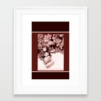 nutella Framed Art Prints featuring nutella  by Kim Rose