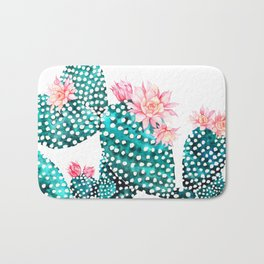 FLOWERING CACTUS Bath Mat