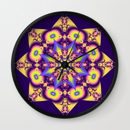 Decorative double star kaleidoscope Wall Clock