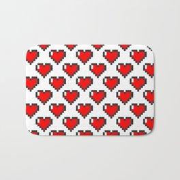Pixel Heart Pattern Bath Mat
