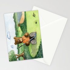 Golfer Bear Stationery Cards