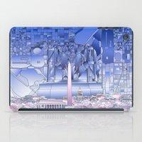 washington dc iPad Cases featuring washington dc city skyline by Bekim ART