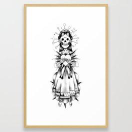 Catrina de mi corazón Framed Art Print