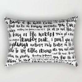 movie quotes Rectangular Pillow