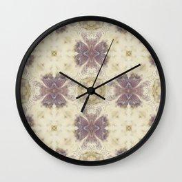 Lily Cream Pattern Wall Clock
