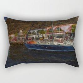 puerto de Mogan painting Pablo Alba Rectangular Pillow