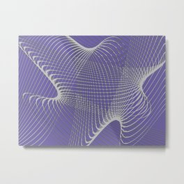 grid on lilacs Metal Print