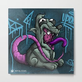 Ronnie The Rat 1 Royal Stain Metal Print
